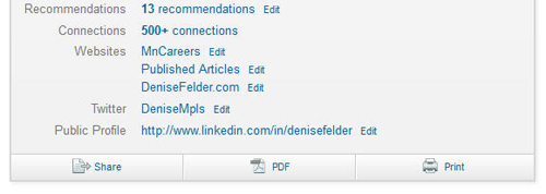 Sample of LinkedIn profile URL
