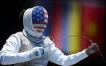 United state Olympic fencer Nzingha Prescod http://www.boston.com/bigpicture/2012/08/london_2012_olympics.html